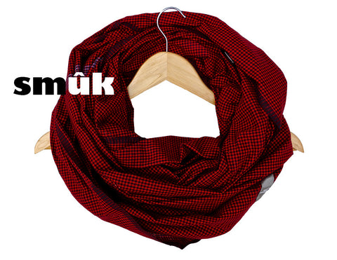 Burma red/black checkered smûk