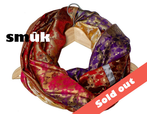 India silk pink/purple/red  smûk