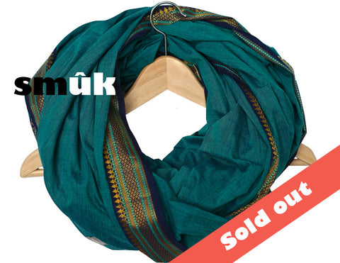 India turquoise cotton smûk