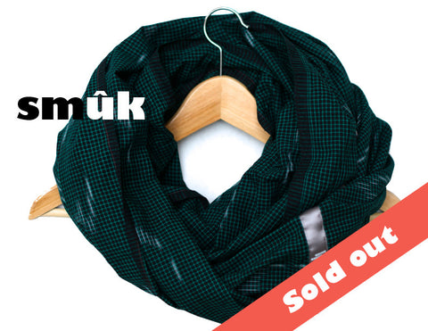 Burma dark green checkered smûk