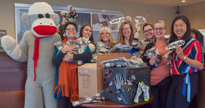 ModSock & Peoples Bank kick off a Socktober sock drive for those in need.