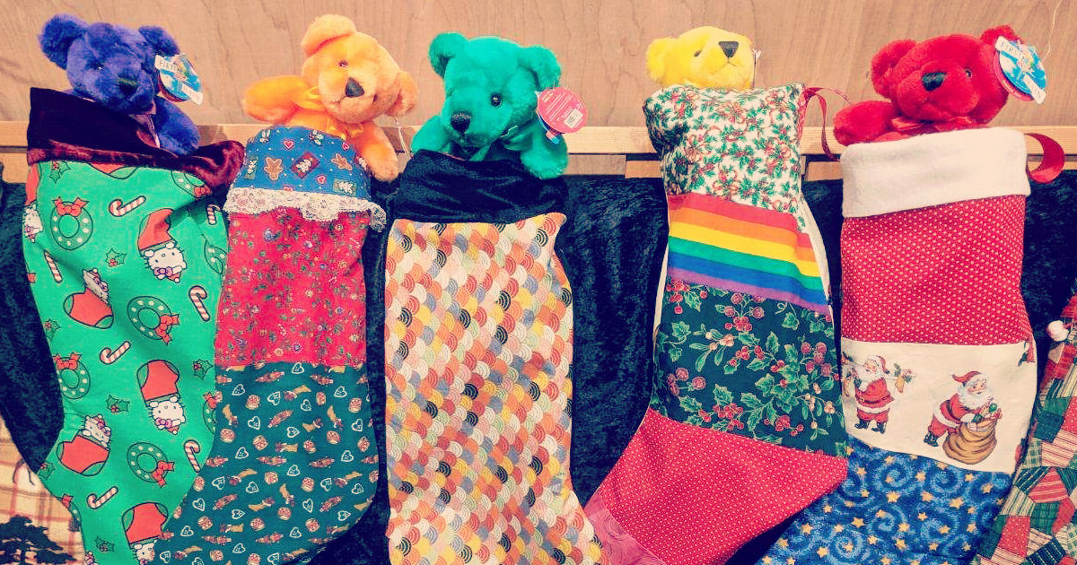 Colorful stockings are gifts for homeless youth in Belingham