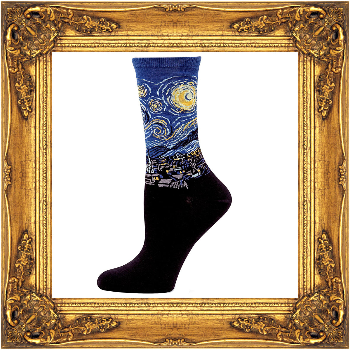 Art Socks with famous paintings like Starry Night by van Gogh turn your feet into an art gallery!