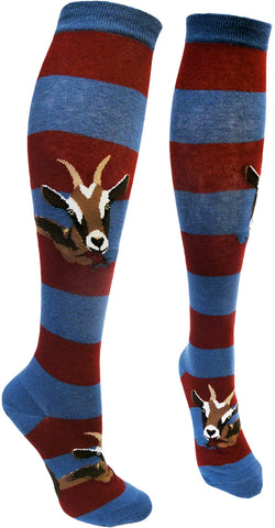 Hungry Goats women's knee high socks