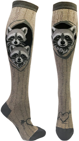 Women's Raccoon's Den knee high socks