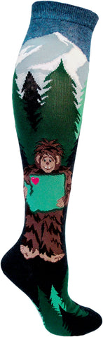 Sasquatch loves Washington women's knee high socks