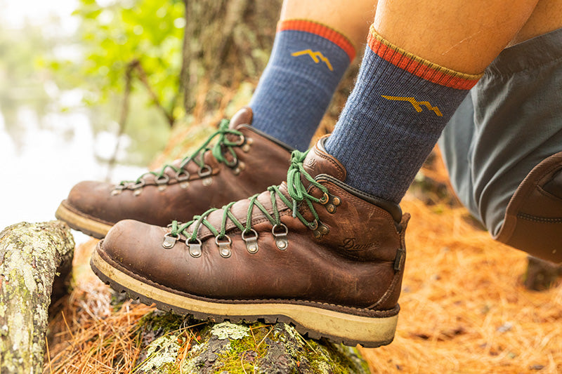 Wearing thick socks with hiking boots