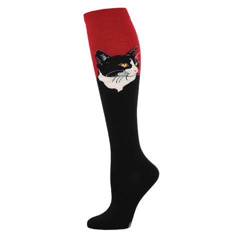 Cat Portrait Knee Socks