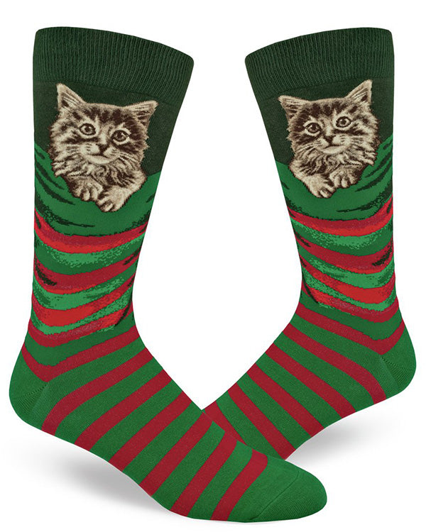 Men's Christmas socks with cats