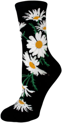 Crazy for Daisies Crew Socks