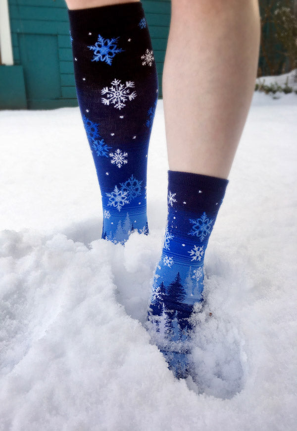 Poor circulation can make your feet feel ice cold as illustrated in this picture of feet in the snow