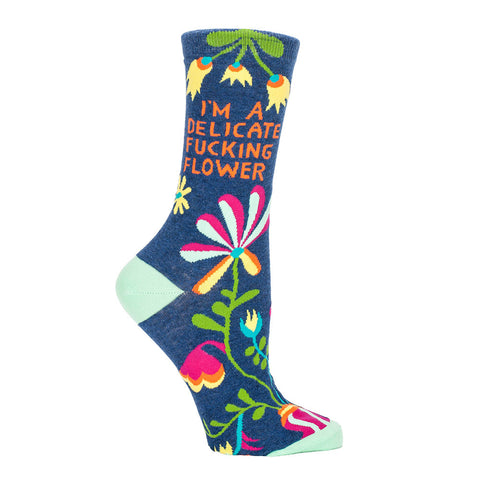 Women's Delicate Fucking Flower Crew Socks
