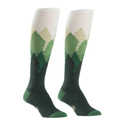 Fir Sure women's knee socks with green forest