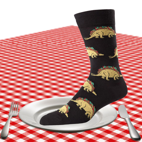 Men's Tacosaurus socks in black
