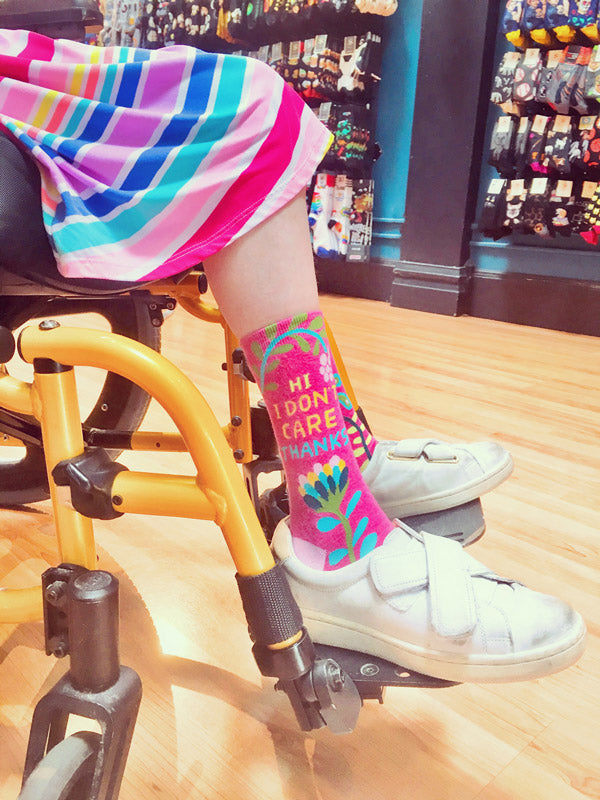 Wear fun socks and boost your mood by expressing yourself