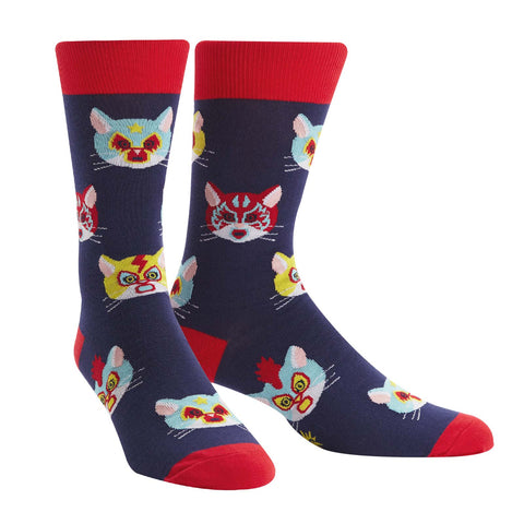 Gato Libre wrestling cat socks
