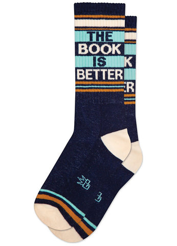 The Book Is Better word socks