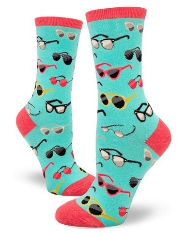 Eyeglasses socks with different types of famous glasses