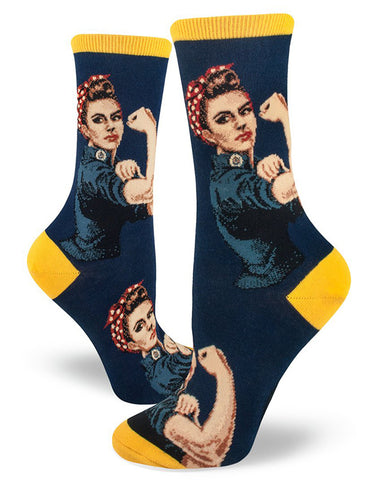 "Rosie the Riveter socks send a message that ""We Can Do It."""