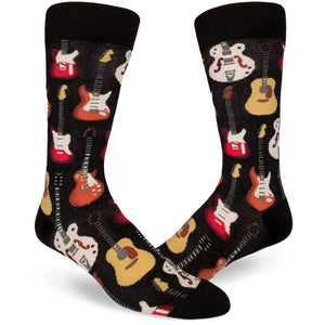 Guitar socks for men, one of ModSocks' new sock styles.