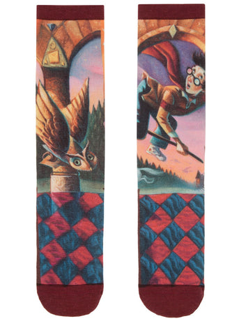 Harry Potter socks for men with the book cover of Harry Potter and the Sorcerer's Stone