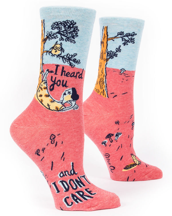 "Funny socks that say ""I Heard You and I Don't Care"""