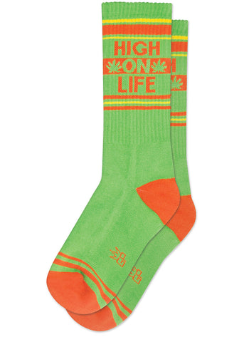 High On Life Socks with pot leaves