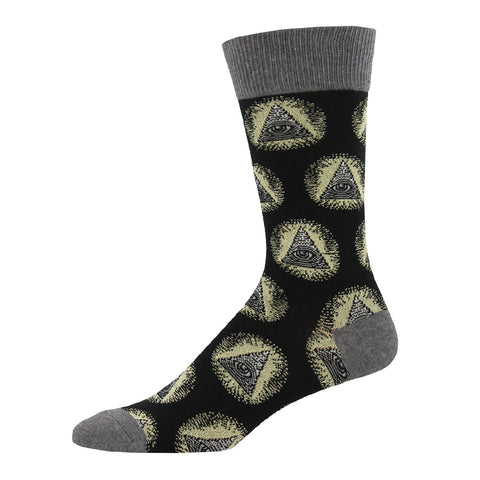Men's Illuminati Crew Socks with the all seeing eye