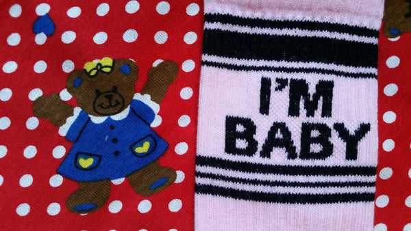 Funny Socks that say I'm Baby