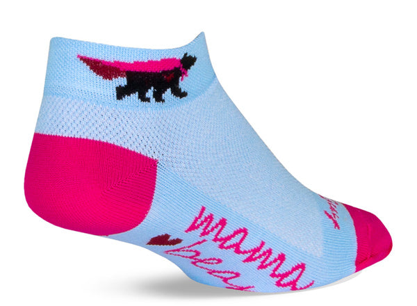 Mama bear socks for women show bears with superhero capes