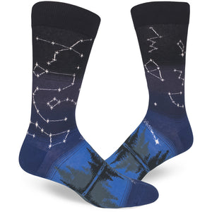 Men's socks with constellations on them.