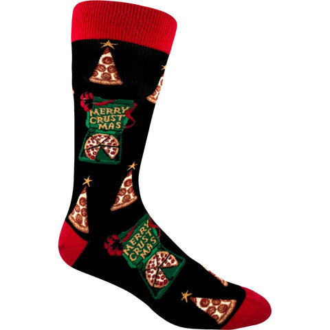 Christmas socks for men with pizza slices