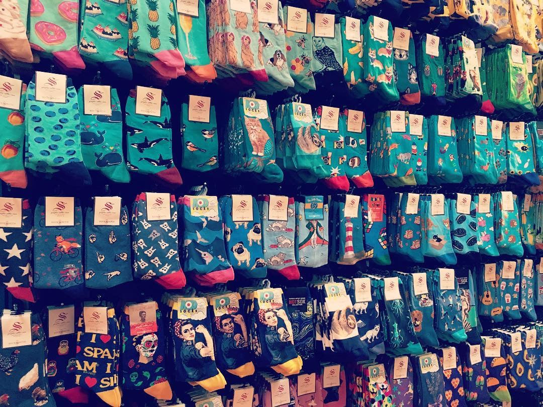 Fun and cute socks for women with animals, food, art themes and feminist icons at ModSock sock store in Bellingham, WA.