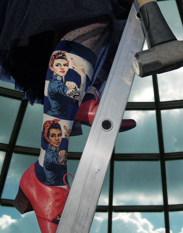 Funny nasty woman Rosie the Riveter socks