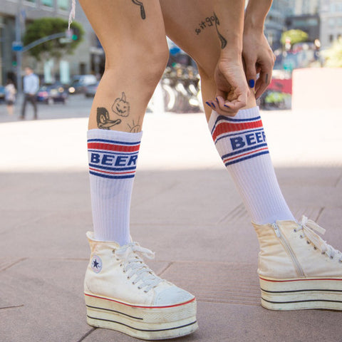 Funny beer socks for Fourth of July
