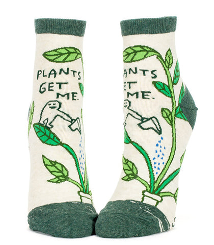 Funny Plants Get Me socks with words