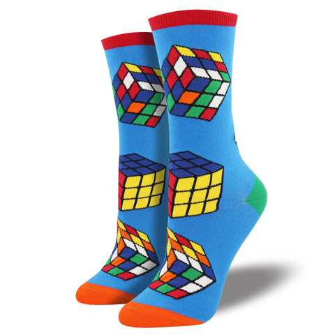 Women's socks with Rubik's cubes