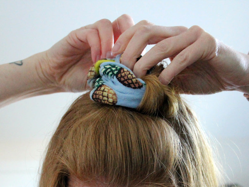 Curl your hair overnight with repurposed socks