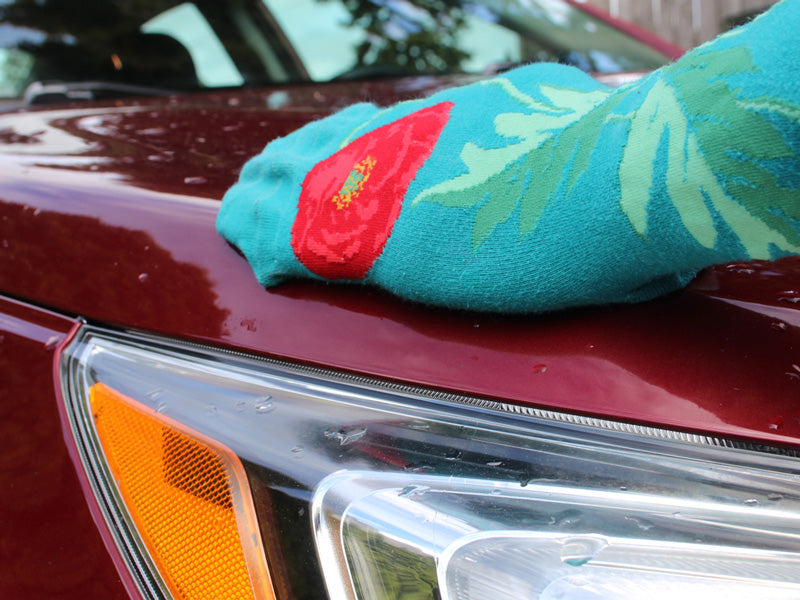 Use an old sock to polish your car