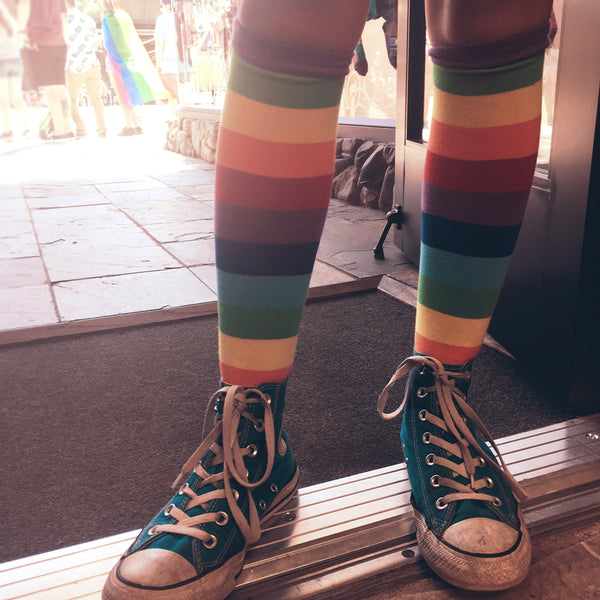 high top converse with long socks