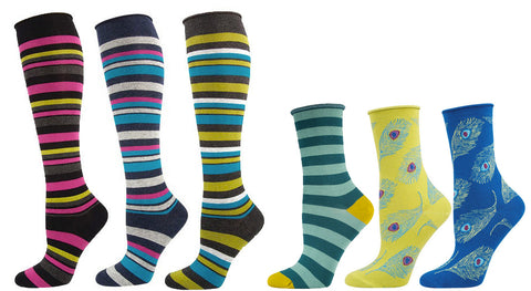 Socksmith roll-top knee and crew socks