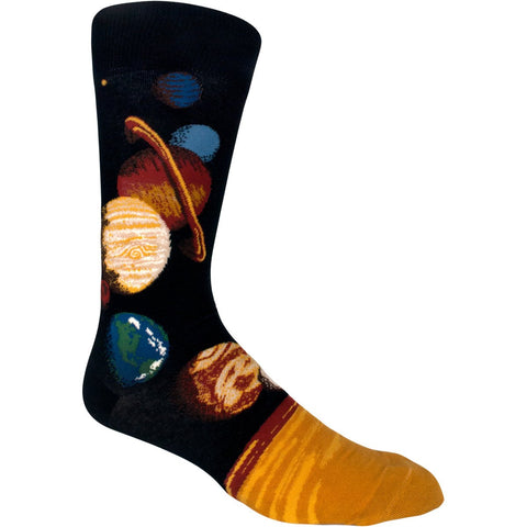 Solar system socks for men with planets