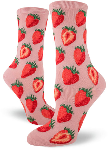 Cute strawberry socks for women