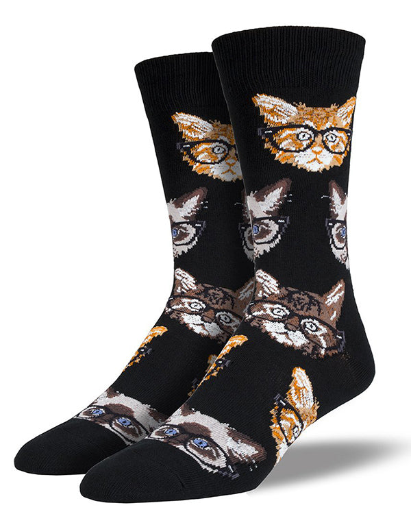 Cat socks for men with tabby cats and orange tabbies