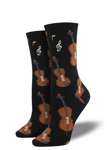 Stringed instruments socks for women
