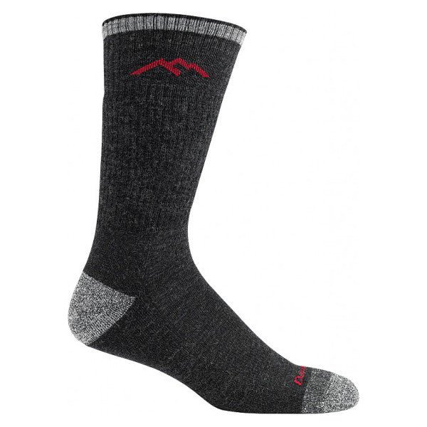 Tall wool socks for men for hiking boots in black