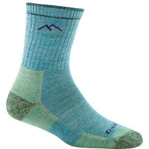 Wool hiking socks for women in Aqua