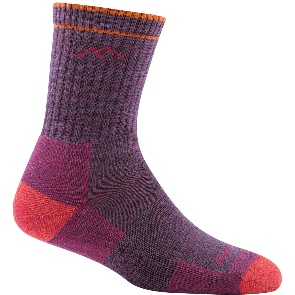 Wool hiking socks for women in Plum