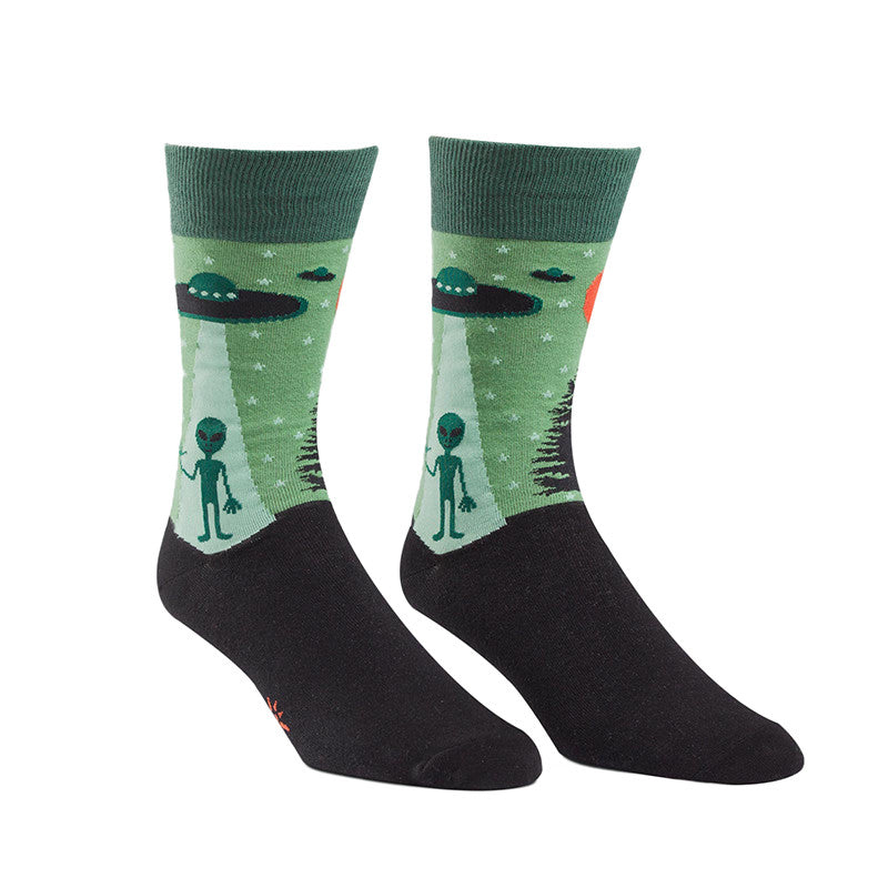 These alien socks for men with UFOs will abduct your heart.
