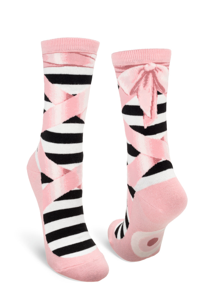 Ballet socks for women make your feet look like they're wearing baby pink ballet slippers!